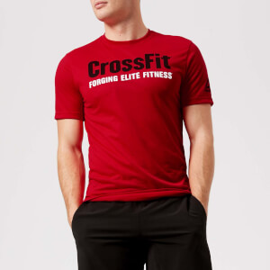 Reebok Men's CrossFit Primal Red Short Sleeve T-Shirt - Red