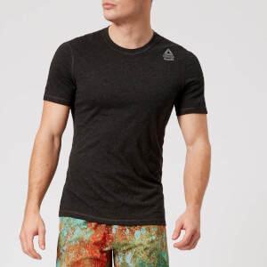 Reebok Men's CrossFit Short Sleeve T-Shirt - Black Melange