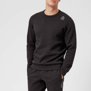 Reebok Men's CrossFit Double Knit Crew Neck Sweatshirt - Black