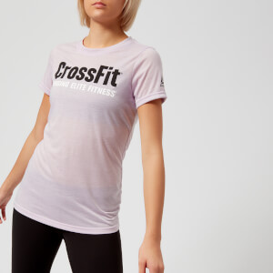 Reebok Women's CrossFit Speedwick Short Sleeve T-Shirt - Quartz-Ash