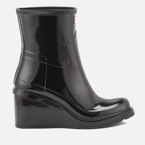 Hunter Women's Original Refined Mid Wedge Gloss Boots - Black