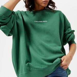 Calvin Klein Women's Hilary Crew Neck Sweatshirt - Trekking Green