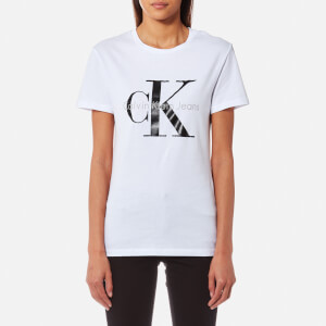 Calvin Klein Women's Shrunken T-Shirt - Bright White