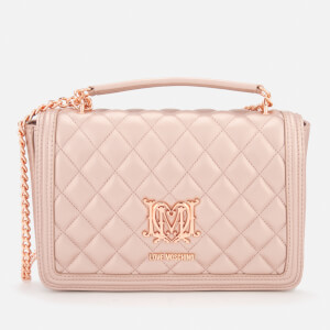Love Moschino Women's Quilted Chain Cross Body Bag - Pink