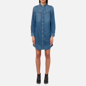 Levi's Women's Iconic Western Shirt Dress - San Fran Medium