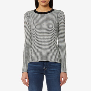 Levi's Women's Fine Rib Pullover Jumper - Golden Gate Stripe & Cloud Dancer
