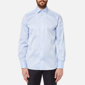 Eton Men's Contemporary Fit Cut Away Collar Single Cuff Shirt - Sky Blue