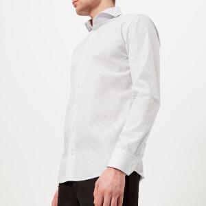 Eton Men's Slim Fit Polka Dot Extreme Cut Away Shirt - White