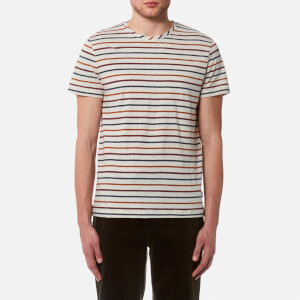 Oliver Spencer Men's Breton T-Shirt - Oatmeal/Multi