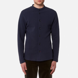 Oliver Spencer Men's Jersey Grandad Shirt - Navy