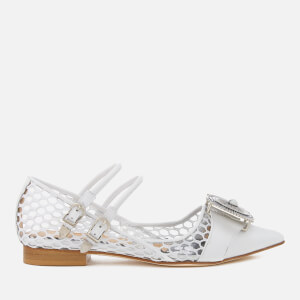 Toga Pulla Women's Mesh Pointed Flats - White