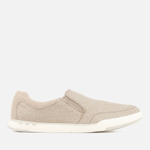 Clarks Men's Step Isle Slip Canvas Pumps - Sand