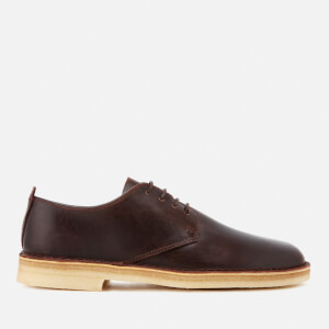 Clarks Originals Men's Desert London Leather Derby Shoes - Chestnut