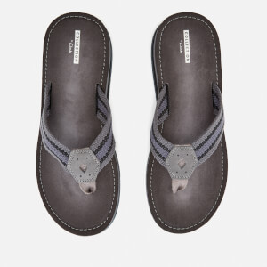 Clarks Men's Lacono Sun Flip Flops - Grey/Black: Image 2