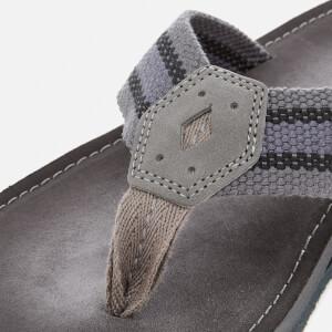 Clarks Men's Lacono Sun Flip Flops - Grey/Black: Image 3