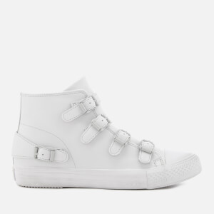 Ash Women's Venus Nappa Leather Hi-Top Trainers - Pearl