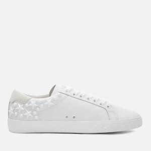 Ash Women's Dazed Leather Low Top Trainers - White Snow: Image 1