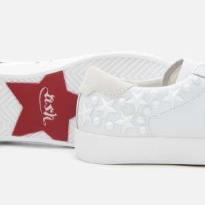 Ash Women's Dazed Leather Low Top Trainers - White Snow: Image 4