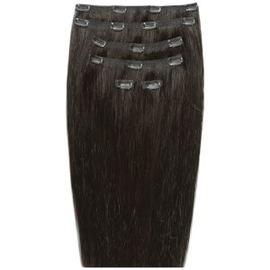 "Beauty Works 18"" Double Hair Set Clip-In Extensions -klipsipidennykset; 45,72 cm, Raven 2"