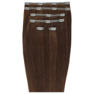 "Beauty Works 18"" Double Hair Set Clip-In Extensions - Chocolate 4/6"
