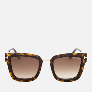 Tom Ford Women's Lara Square Frame Sunglasses - Dark Havana