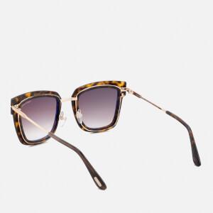 Tom Ford Women's Lara Square Frame Sunglasses - Dark Havana: Image 3