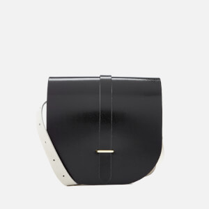 The Cambridge Satchel Company Women's Saddle Bag - Black Patent & Clay