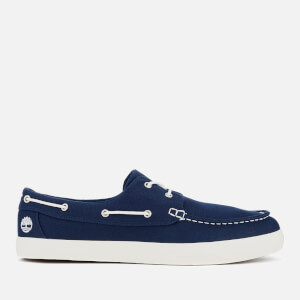Timberland Men's Union Wharf 2 Eye Canvas Boat Shoes - Black Iris