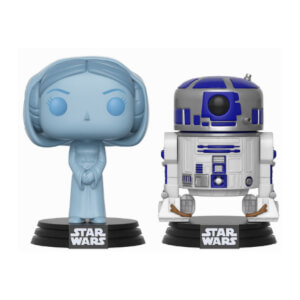 Star Wars Holographic Leia and R2-D2 SDCC 2017 EXC Pop! Vinyl Figure 2-Pack