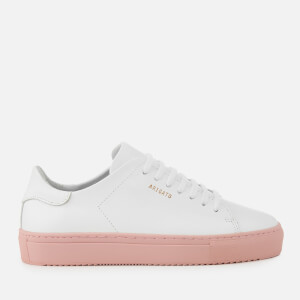 Axel Arigato Women's Clean 90 Leather Trainers - White/Nude