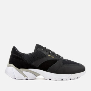 Axel Arigato Men's Tech Leather/Canvas Runner Trainers - Black