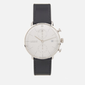 Junghans Men's Max Bill Chronoscope Self Winding Watch - White/Black