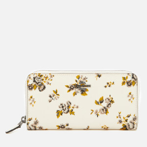 Coach Women's Accordion Zip Wallet in Prairie Print - Chalk