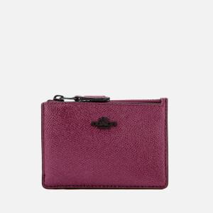 Coach Women's Metallic Mini ID Skinny Wallet - Metallic Mauve