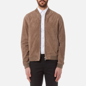 Herno Men's Goat Suede Bomber Jacket - Taupe