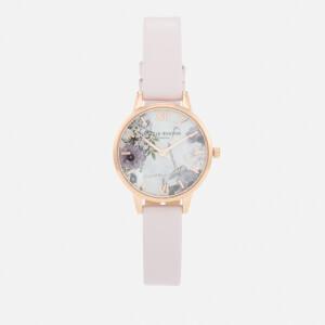 Olivia Burton Women's Marble Florals Watch - Blush & Rose Gold