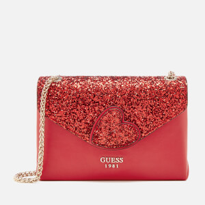 Guess Women's Ever After Convertible Flap Bag - Lipstick