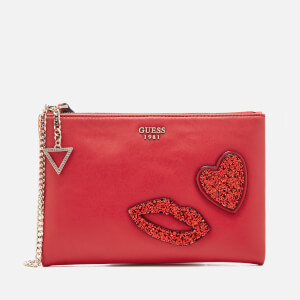 Guess Women's Ever After Cross Body Clutch Bag - Lipstick