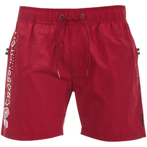 Crosshatch Men's Kavana Swim Shorts - Biking Red