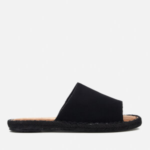 TOMS Women's Clarita Suede Slide Espadrille Sandals - Black