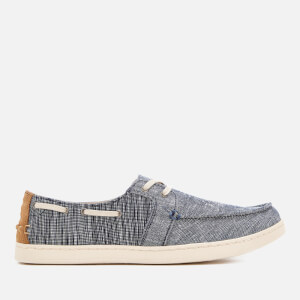 TOMS Men's Culver Chambray Boat Shoes - Navy