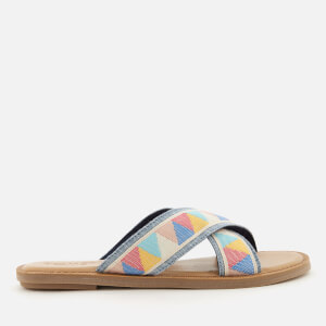 TOMS Women's Viv Cross Front Slide Sandals - Multi Tribal