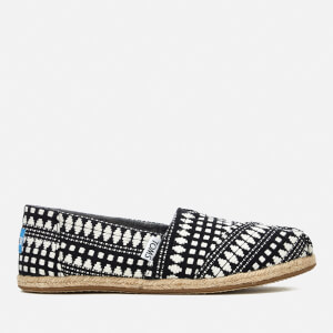 TOMS Women's Alpargata Tribal Print Espadrilles - Black Diamond