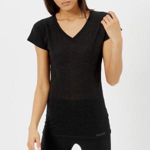 FALKE Ergonomic Sport System Women's Short Sleeve Silk Wool T-Shirt - Anthracite Melange