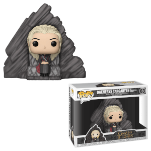Figurine Pop! Game of Thrones - Daenerys sur Throne Dragonstone - Pop! Deluxe
