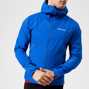 Montane Men's Atomic Jacket - Electric Blue/Authentic Orange