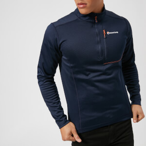 Montane Men's Octane Pull On Fleece - Antarctic Blue/Tangerine
