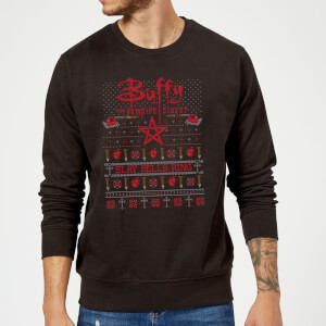 Buffy The Vampire Slayer Slay Bells Ring Sweatshirt - Black