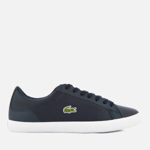 Lacoste Men's Lerond Bl 1 Leather Trainers - Navy