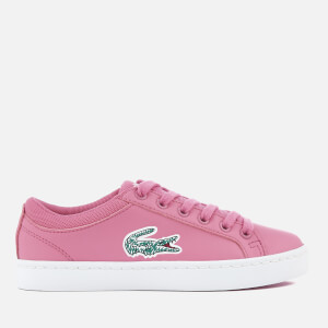 Lacoste Kids' Straightset Lace 118 1 Trainers - Pink/White